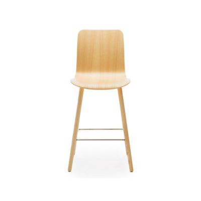 Sola barstool wooden base & backrest by Martela Oyj