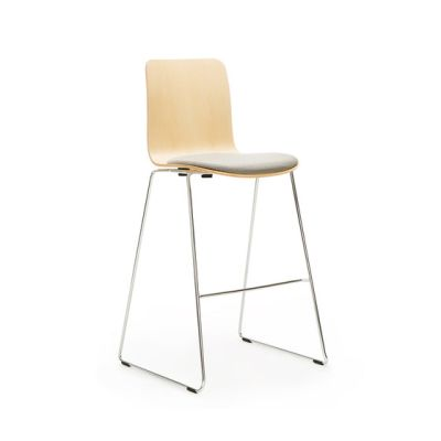 Sola high bar seat upholstered by Martela Oyj