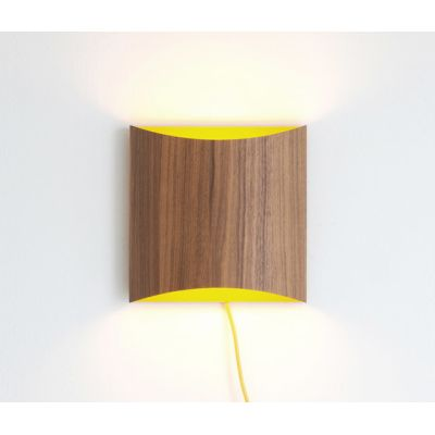 Sophie wall walnut yellow with cable by lasfera