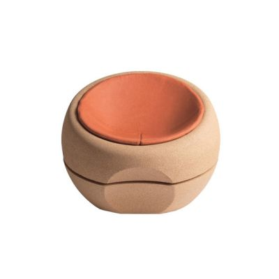 Spherical Cork Armchair with Cushion by Movecho