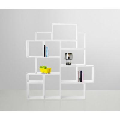 Stacked Shelf System with backboard White