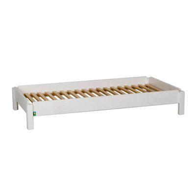 Stacking bed white DBF-156-10 by De Breuyn