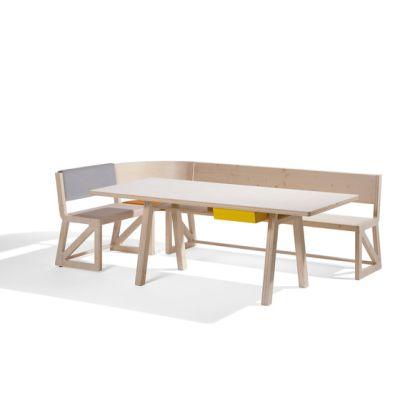 Stijl cornerbench amd table by Lampert