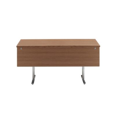 Tempest table with modesty panel by HOWE