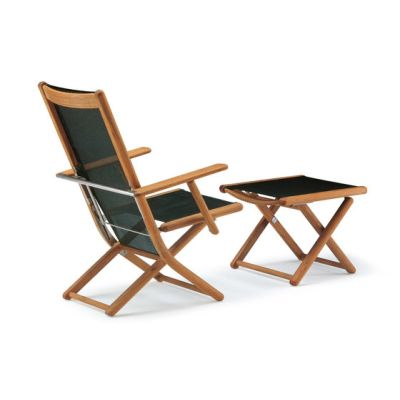 Tennis armchair adjustable with footrest by Fischer Möbel