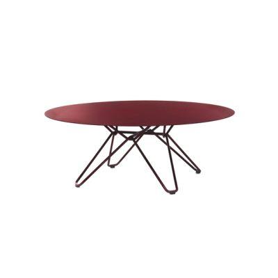 Tio Circular Coffee Table Metal Ø:100 H:38 cm Wine Red - Metal