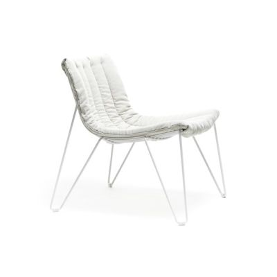 Tio Easy Chair with seat pad White/Fabric A