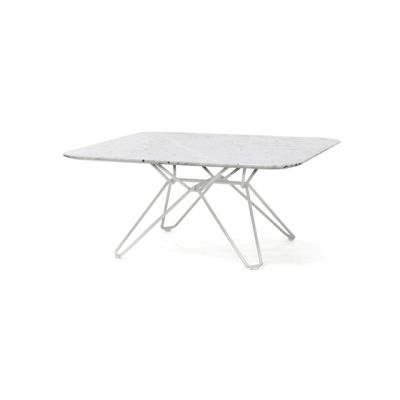 Tio Square Coffee Table Marble 85 x 85 x 38 cm Carrara Marble