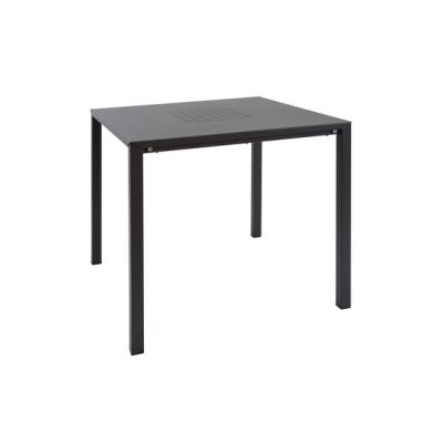 Urban stackable square table Black