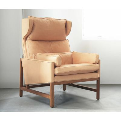 Wing Back Lounge Chair by BassamFellows