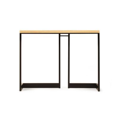 wishbone slab top high table by Skram