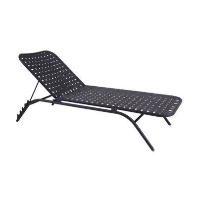 Yard Sunbed stackable sunbed Black/Charcoal