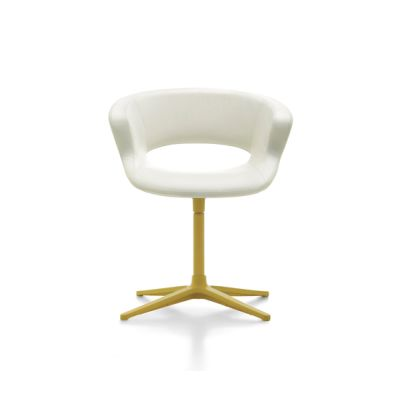 Zed swivel base upholstered by Maxdesign