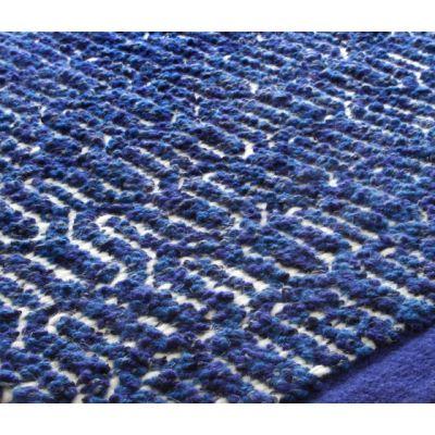 Zigzag indigo blue, 200x300cm