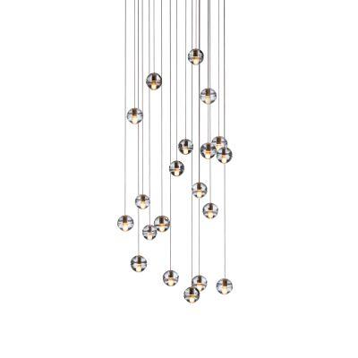 14.20 Pendant Chandelier Amber, LED, Wet