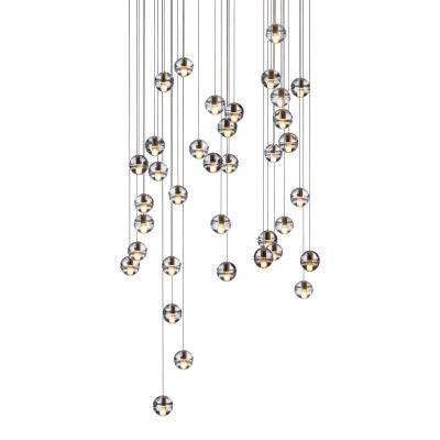 14.36 Square Pendant Chandelier Amber, LED, Wet