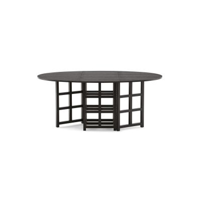 322 D.S.1 Oval Dining Table Black