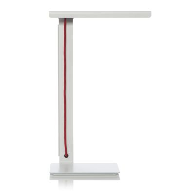 490 LED Desk Lamp White with Red Cable