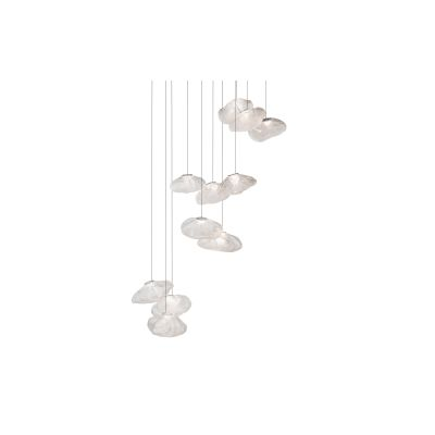 73.11 Rectangular Chandelier Clear