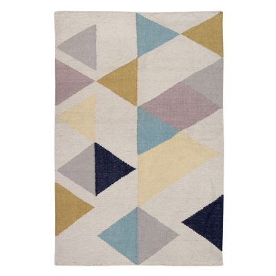 A Touch of Sparkle: Contemporary Handwoven Wool Rug A Touch of Sparkle: Contemporary Handwoven Wool Rug