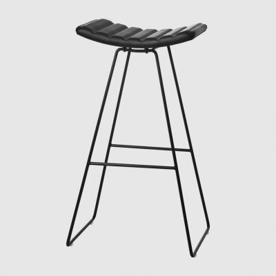A3 Bar Stool Gubi Leather Black