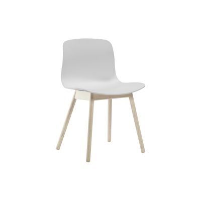 About A Chair AAC12 - Ex display White Seat and Soap Treated Oak Base