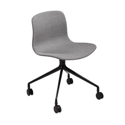 About A Chair AAC15 Leather Silk SIL0197 Cream, Polished Aluminium Base