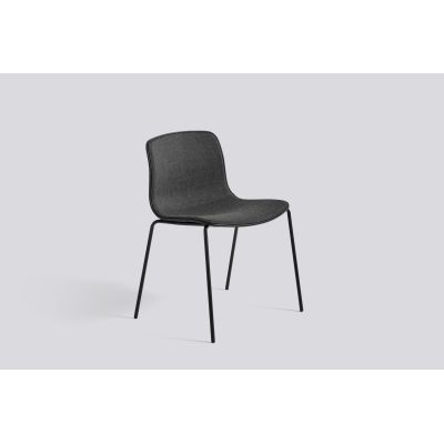 About A Chair AAC16 with front upholstery Leather Silk SIL0197 Cream, White, Chromed Steel