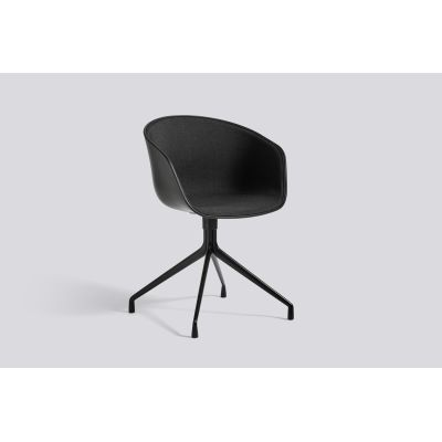 About A Chair AAC20 with front upholstery Leather Silk SIL0197 Cream, White, Polished Aluminium