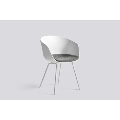 About A Chair AAC26 - Fixed Cushion Army Powder Coated Steel, Black, Leather Silk SIL0197 Cream