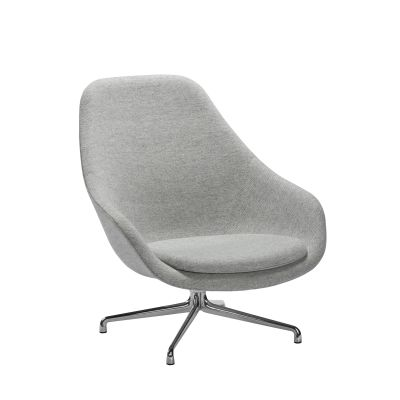 About A Lounge Chair AAL91 Kvadrat Twill Weave 0940, Hay Aluminium Polished