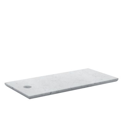 AC07 Cut Rectangular Cutting Board White Marble, Large