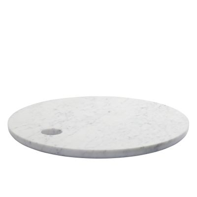 AC07 Cut Round Cutting Board White Marble