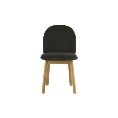Ace Dining Chair Sørensen Ultra Leather Black Brown - 41590, Ace Oak
