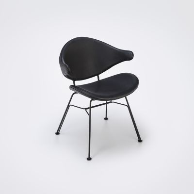 Acura Light Dining Chair Black Leather