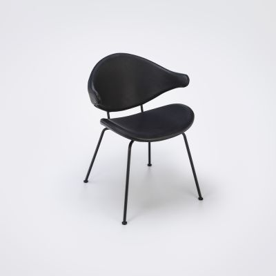 Acura Tube Dining Chair Black Leather