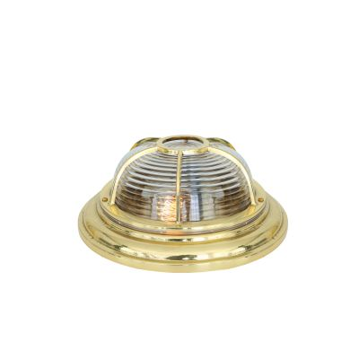 Adur Ceiling Light Natural Brass