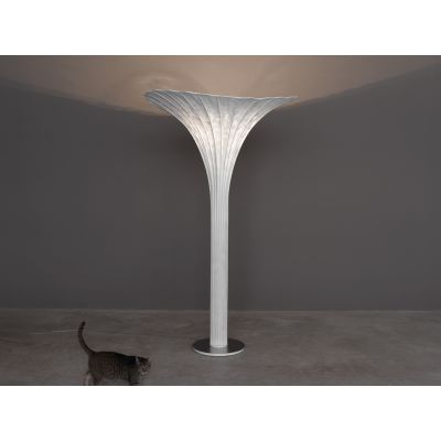 Africa Floor Lamp Orange, Transparent Cable