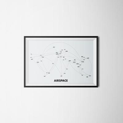 Airspace Print Airspace Grey