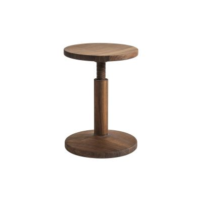 All Wood Bobbin Stool American Walnut