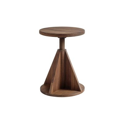 All Wood Rocket Stool American Walnut