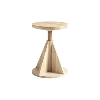 All Wood Rocket Stool Ash