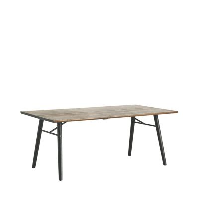 Alley Dining Table Smoke Oak, Black, 205