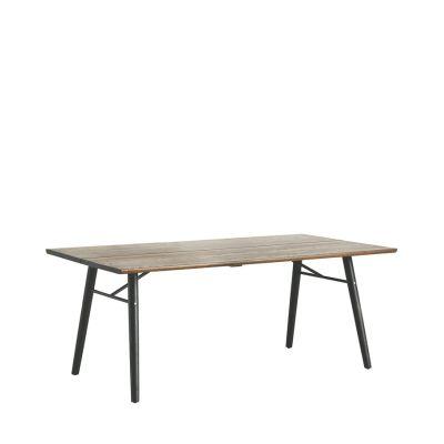 Alley Dining Table Smoke Oak, Black, 205
