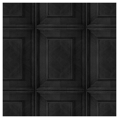 Dutch Inlay Panelling Wallpaper  Charcoal Dutch Inlay Panelling Wallpaper