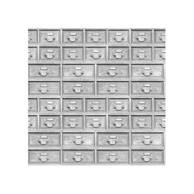 Almost White Industrial Drawers Wallpaper  Almost White Industrial Drawers Wallpaper