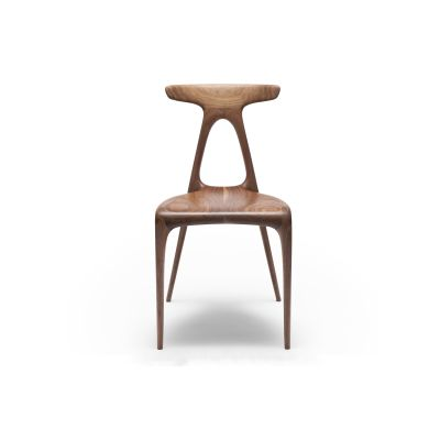 Alpha Dining Chair Solid Walnut