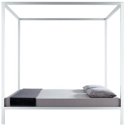 Aluminium Bed, Canopy Sommier, Lacquered 200cm, Gloss Red