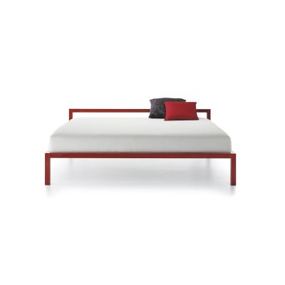 Aluminium Bed Without Head Panel, Lacquered 200cm, Gloss Red