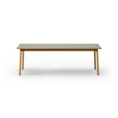 Ana Dining Table Nano laminate Almond / edge oak soap, Oak oil treated